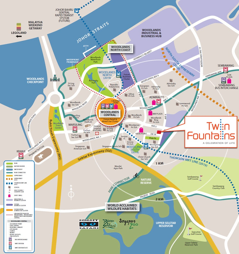 Twin Fountains EC Location Map