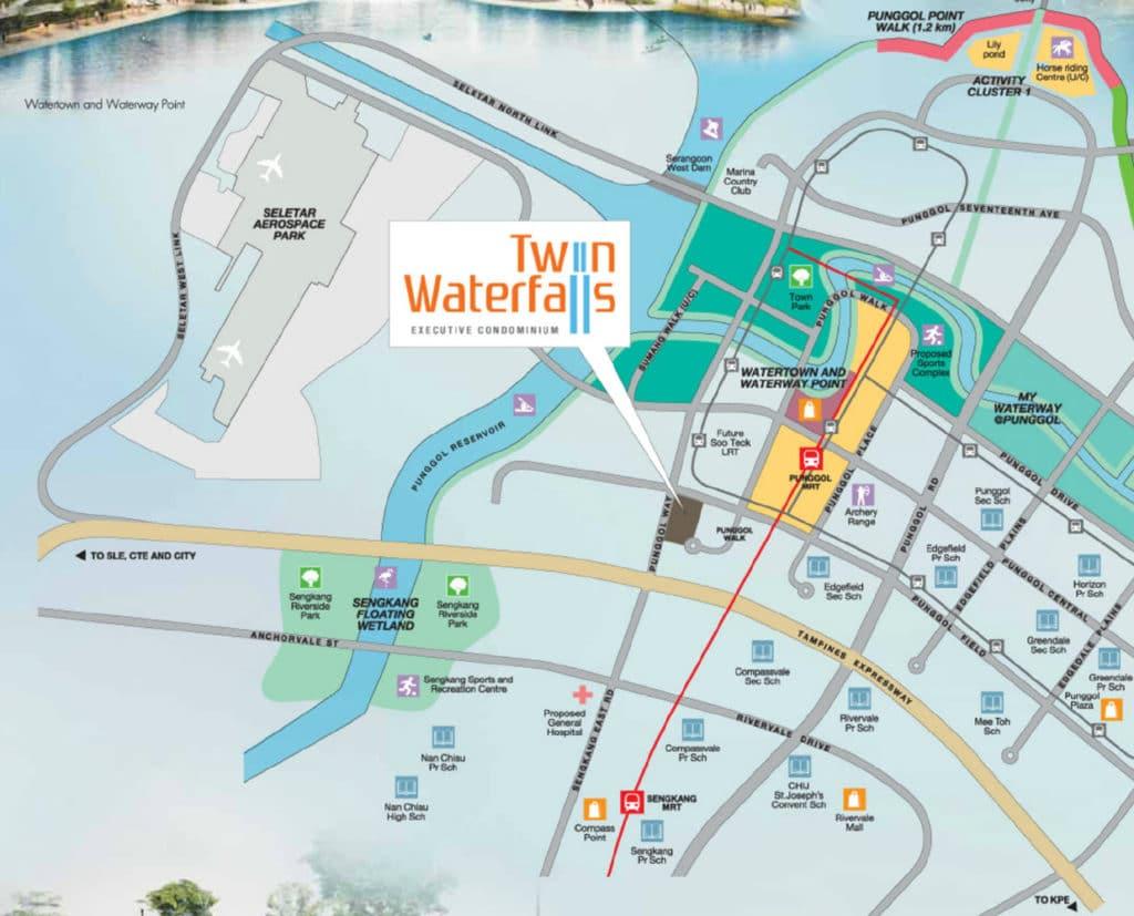 Twin Waterfalls EC Location Map