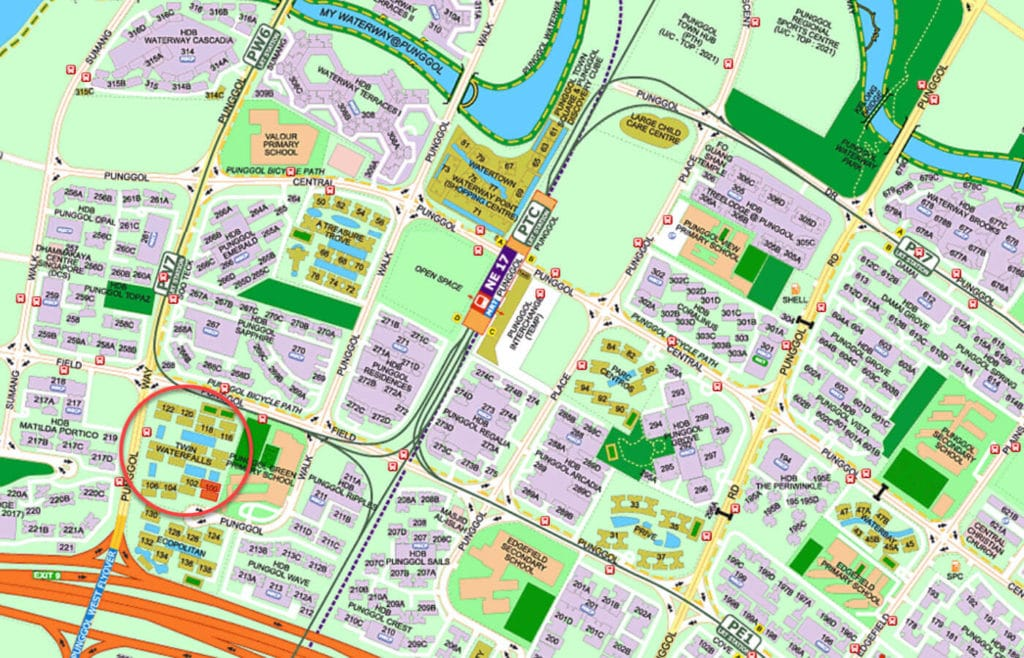 Twin Waterfalls EC Street Directory Map