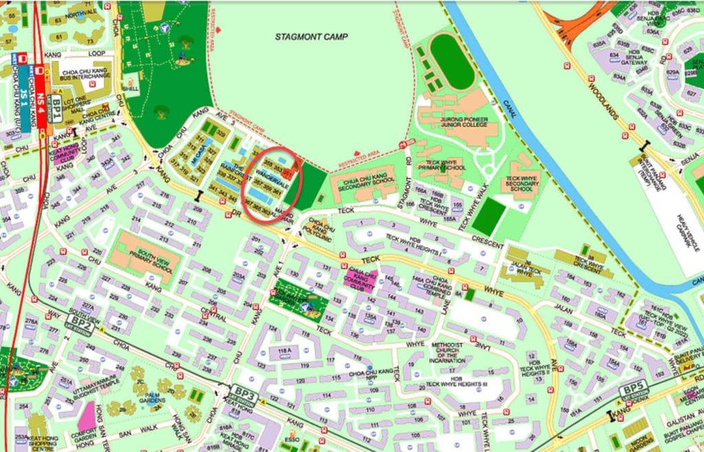 Wandervale EC Street Directory Map