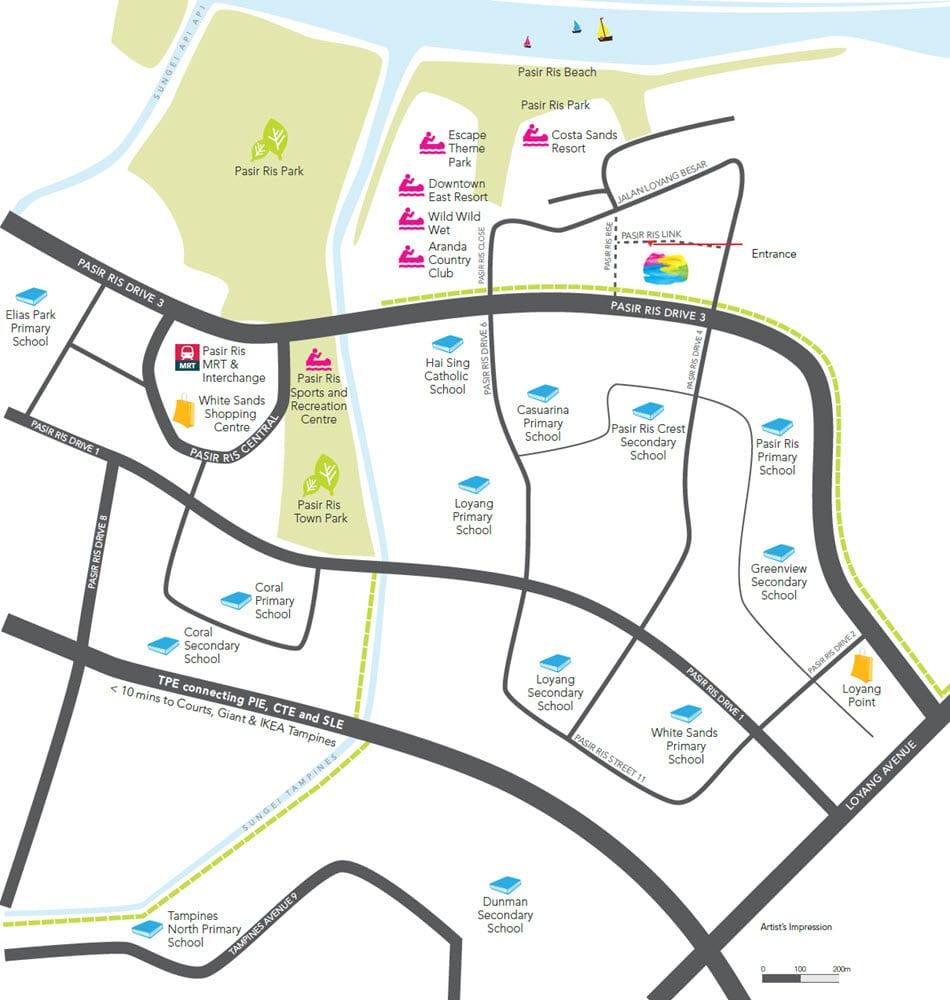 WaterColours EC Location Map