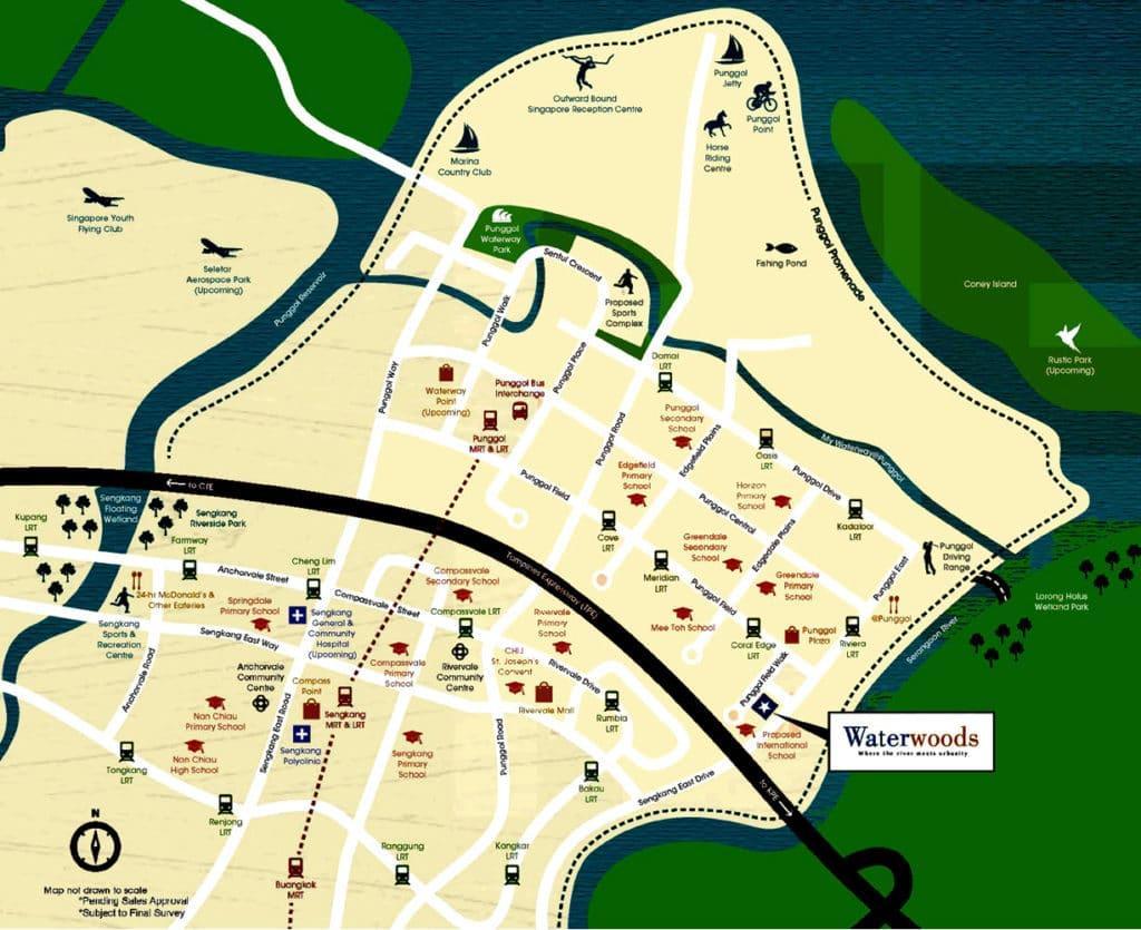 WaterWoods EC Location Map