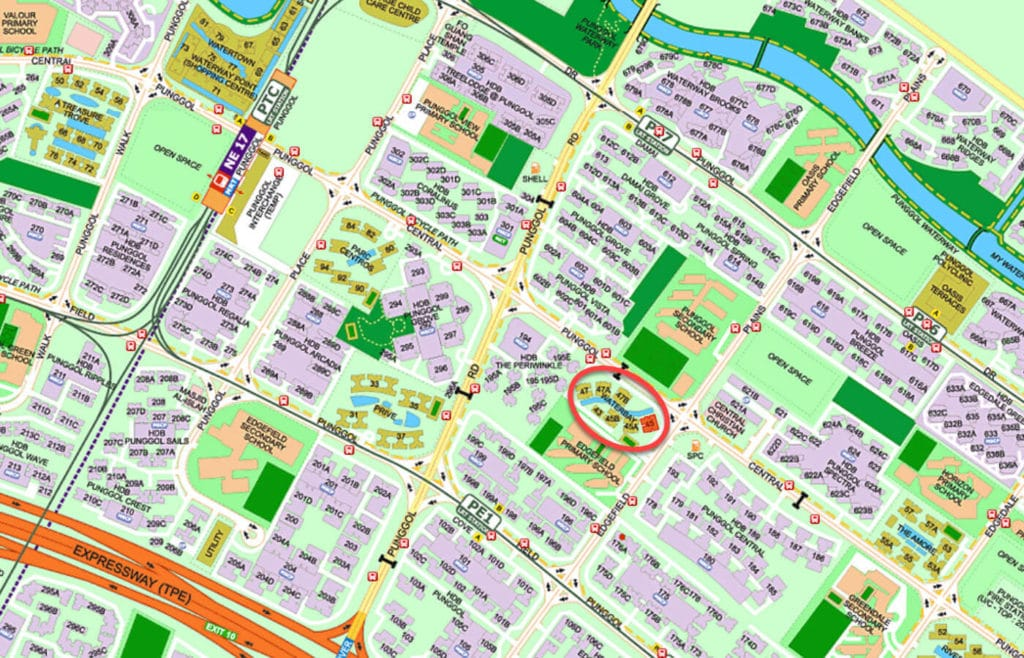 Waterbay EC Street Directory Map