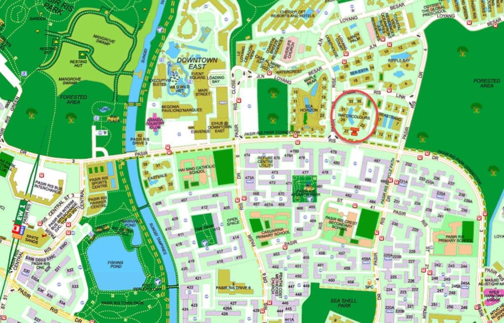 Watercolours EC Street Directory Map