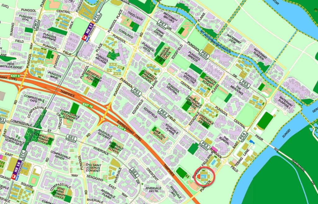 Waterwoods EC Street Directory Map