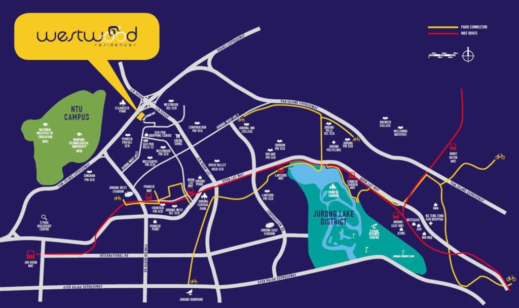 Westwood Residences EC Location Map