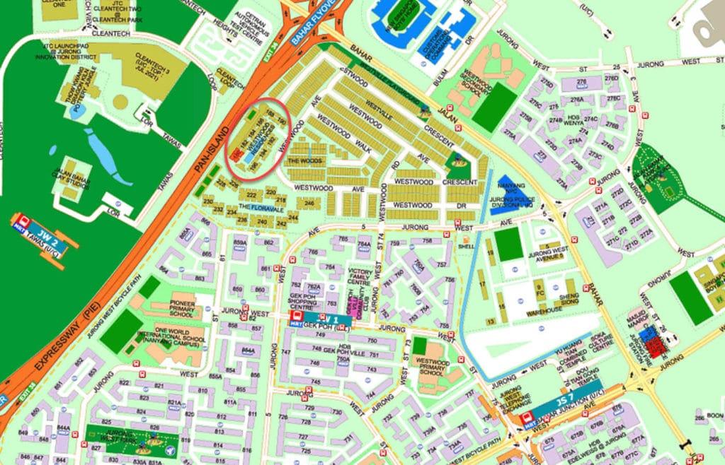Westwood Residences EC Street Directory Map