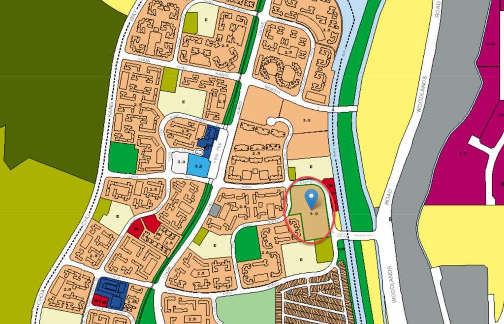 Yew Mei Green EC URA Master Plan Map